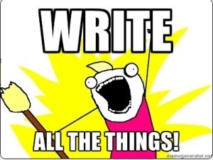write the things