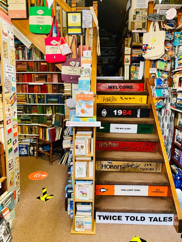 Ironbridge Bookshop Book Stairs