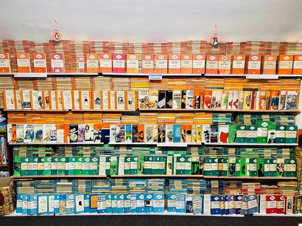 Ironbridge Bookshop Penguin Wall
