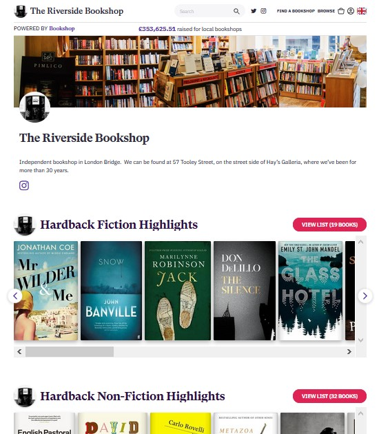 Riverside Bookshop Online