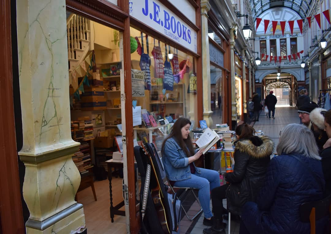 Bookshop storytime in Hepworth Arcade