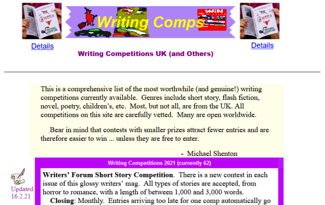 Prizemagic writing competitions
